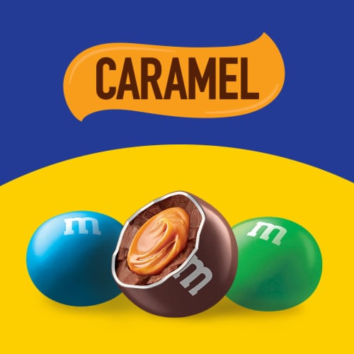 M&M's Caramel Chocolate Candy Perspective: bottom
