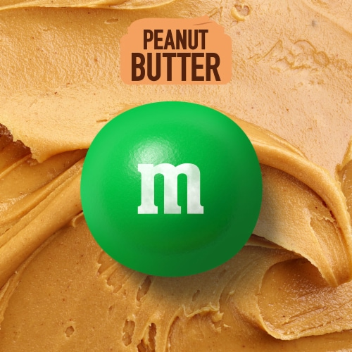 M&M's Peanut Butter Milk Chocolate Candy Sharing Size Bag Perspective: bottom