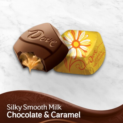DOVE PROMISES Caramel & Milk Chocolate Flowers Easter Candy Bag Perspective: bottom
