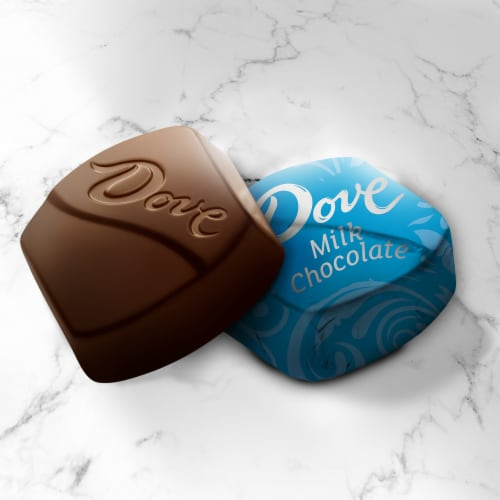 Dove Promises Silky Smooth Milk Chocolate Candy Perspective: bottom
