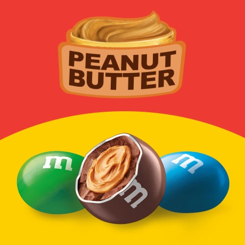 M&M'S Peanut Butter Chocolate Candy Perspective: bottom
