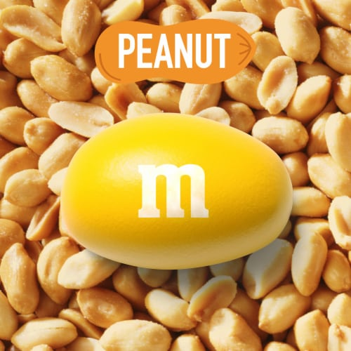 M&M's Peanut Chocolate Candy Party Size Bag Perspective: bottom