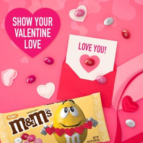 M&M'S Milk Chocolate Peanut Valentine Candy Bag Perspective: bottom