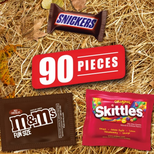 Mars Snickers Skittles & M&M's Candy Variety Pack Perspective: bottom