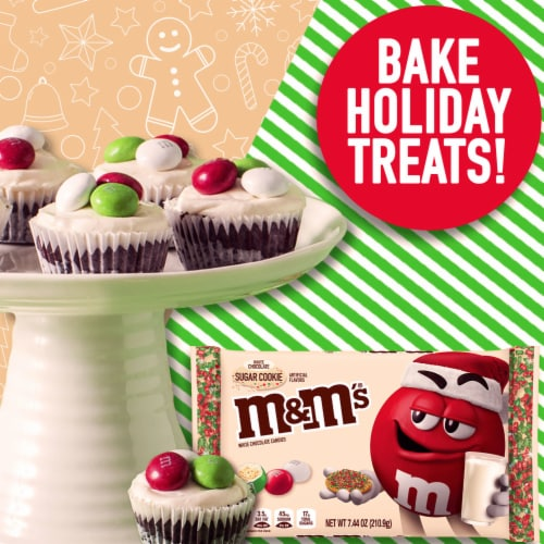 M&M'S Holiday White Chocolate Sugar Cookie Christmas Candy Perspective: bottom