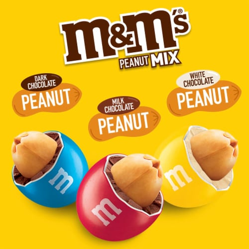 M&M's Peanut Mix Chocolate Candy Sharing Size Bag Perspective: bottom