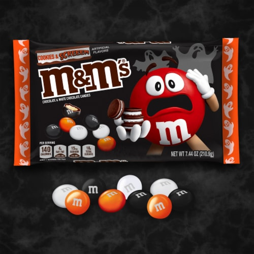 M&M's® Cookies & Screeem Chocolate & White Chocolate Halloween Candy Perspective: bottom
