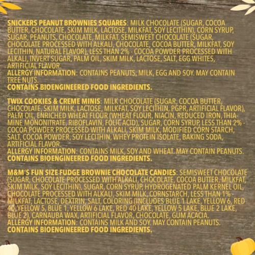 Mars Dessert Mix Assorted Halloween Candy Perspective: bottom