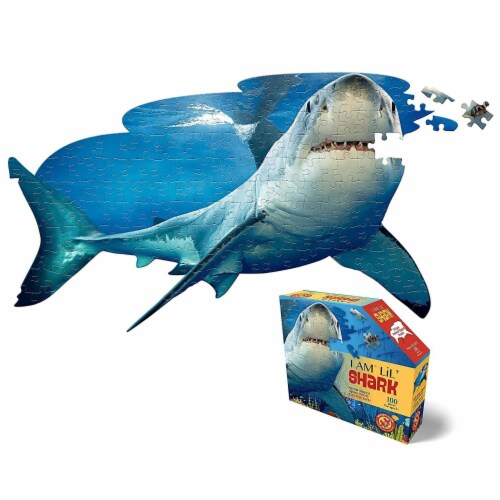 I AM Lil Shark 100 Piece Animal-Shaped Jigsaw Puzzle Perspective: bottom