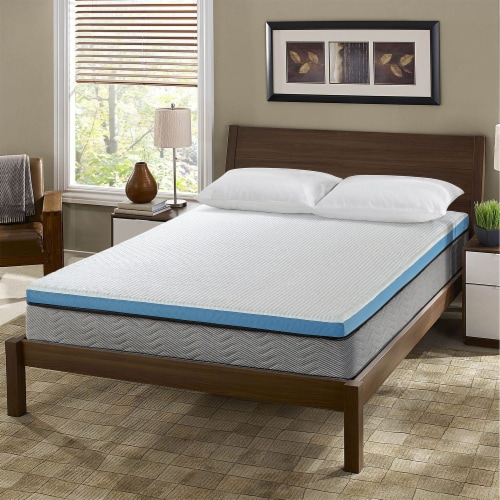I Love Pillow Out Cold Gel Infused Memory Foam Copper Mattress Cover, Queen Perspective: bottom
