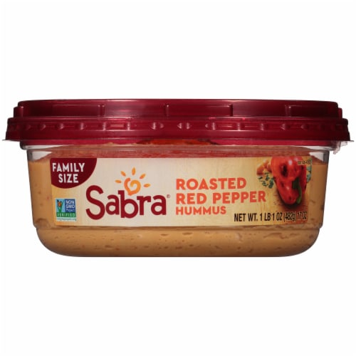 Sabra Family Size Roasted Red Pepper Hummus Perspective: bottom