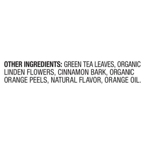 Lipton Daily Immune Support Turmeric Echinacea and Ginger Green Tea Bags Perspective: bottom
