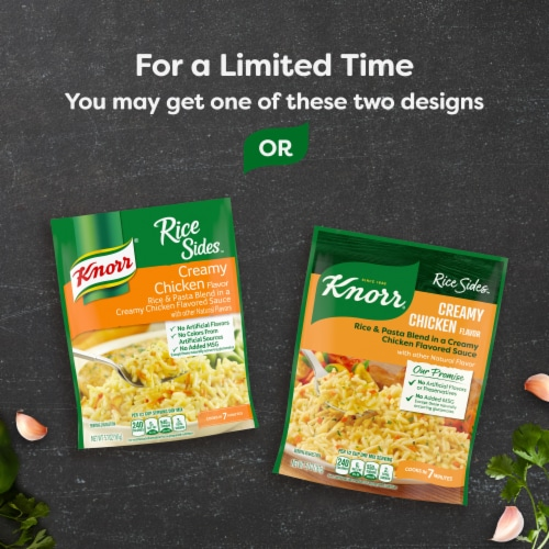 Knorr® Rice Sides Creamy Chicken Flavor Rice and Pasta Blend Perspective: bottom