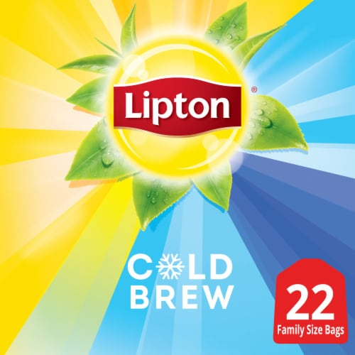 Lipton® Cold Brew Black Iced Tea Bags Family Size Perspective: bottom