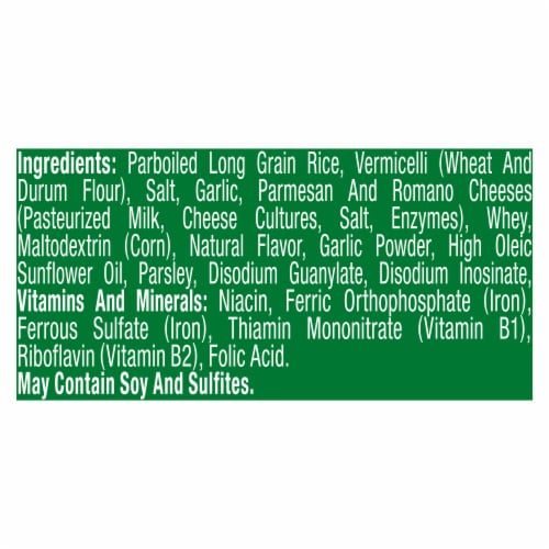 Knorr® Rice Sides Garlic Parmesan Rice & Pasta Blend Perspective: bottom