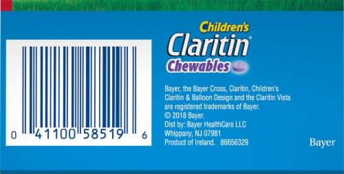 Children's Claritin® Grape 24 Hour Allergy Chewable Tablets Perspective: bottom