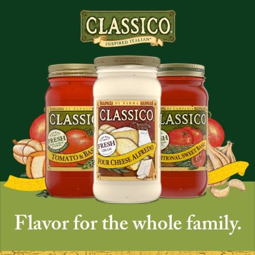 Classico Four Cheese Alfredo Pasta Sauce Perspective: bottom