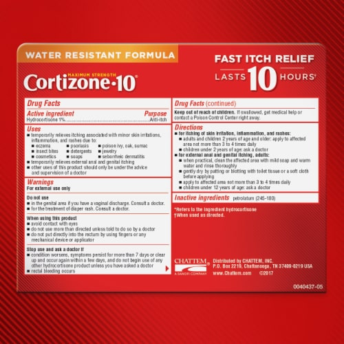 Cortizone 10 Maximum Strength Anti-itch Ointment Perspective: bottom