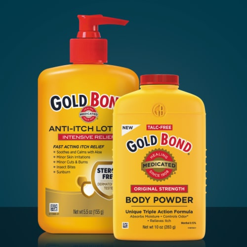 Gold Bond Medicated Original Strength Body Powder Perspective: bottom