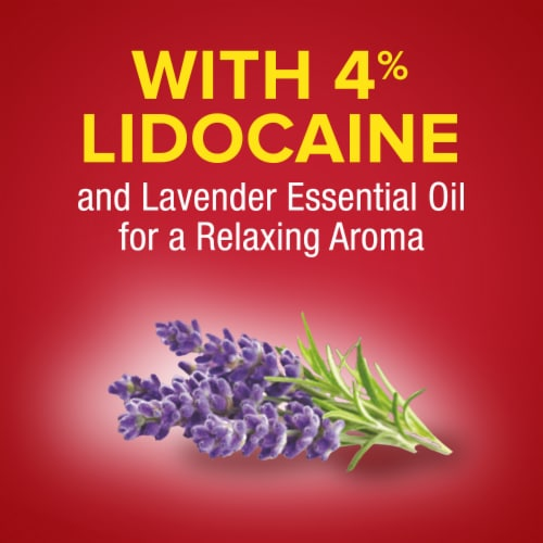Aspercreme® with Lidocaine Lavender Essential Oil Roll-On Pain Relieving Liquid Perspective: bottom