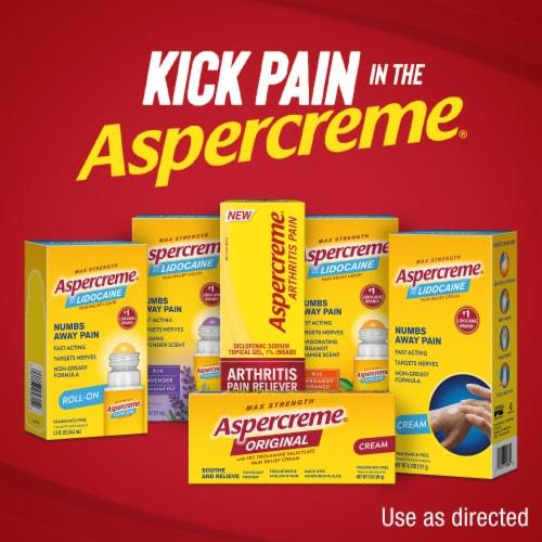 Aspercreme Original Maximum Strength Pain Relief Cream Perspective: bottom