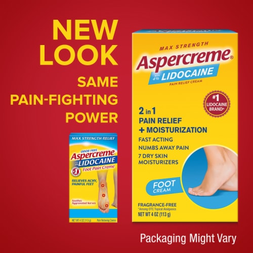 Aspercreme with Lidocaine Foot Pain Creme Perspective: bottom
