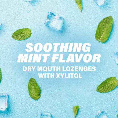 ACT Soothing Mint Dry Mouth Lozenges with Xylitol Perspective: bottom