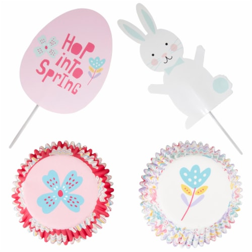 Holiday Home Hop Into Spring Bunny Cupcake Decoration Kit Perspective: bottom