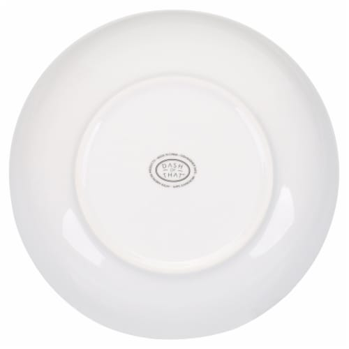 Dash of That Ceramic Low Serve Bowl - White Perspective: bottom