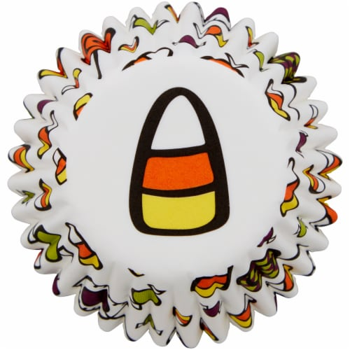 Holiday Home™ Mini Cupcake Liners - Candy Corn Perspective: bottom