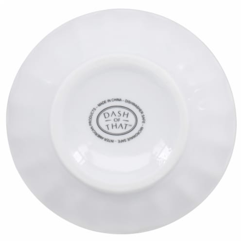 Dash of That Foot Cereal Bowl - White Perspective: bottom