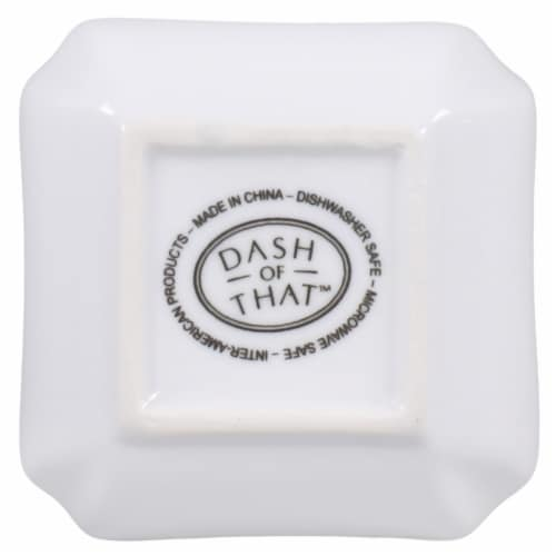 Dash of That™ St John Mini Square Bowl - White Perspective: bottom