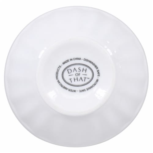 Dash of That™ Sellwood Footed Bowl - White Perspective: bottom