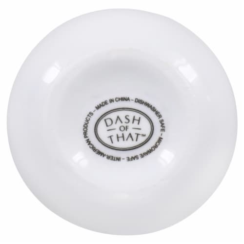 Dash of That™ St John Sugar Bowl with Spoon - White Perspective: bottom