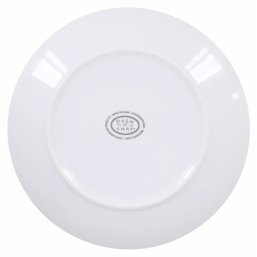 Dash of That™ Coupe Salad Plate - White Perspective: bottom