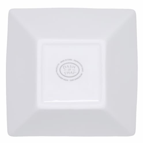 Dash of That™ Broadway Square Flare Bowl - White Perspective: bottom