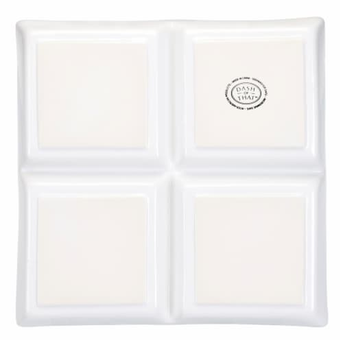 Dash of That™ Broadway Divided Square Serving Dish - White Perspective: bottom