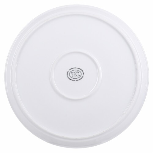 Dash of That Fremont Strato Stack Dinner Plate - White Perspective: bottom