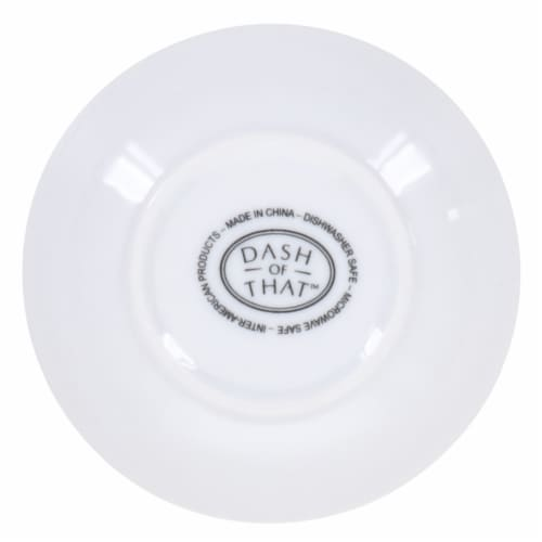 Dash of That™ Nouveau Dipping Dish - White Perspective: bottom