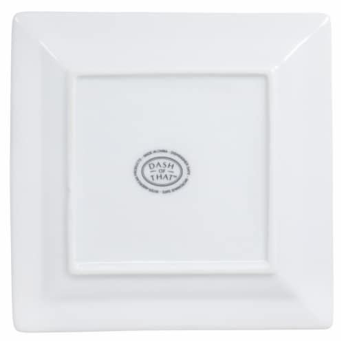Dash of That™ St John Square Plate - White Perspective: bottom