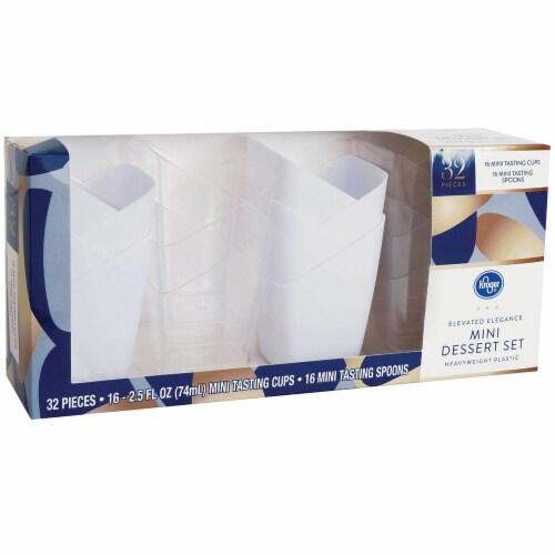 Kroger® Elevated Elegance Heavyweight Plastic Mini Dessert Set Perspective: bottom
