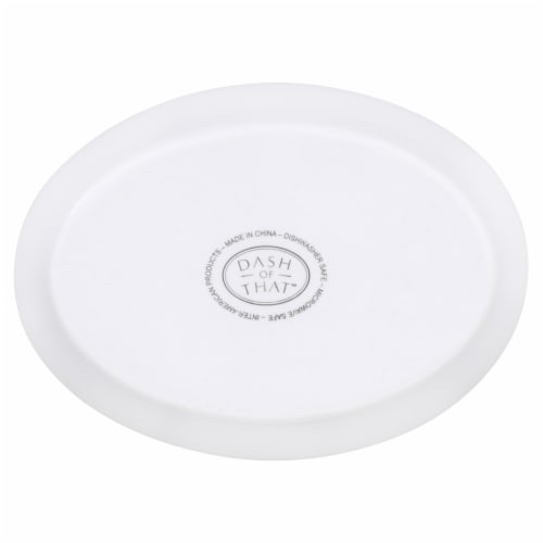 Dash of That Oval Bowl - White Perspective: bottom