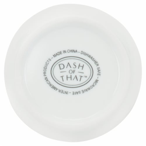 Dash of That™ Marquam Sauce Cup - White Perspective: bottom