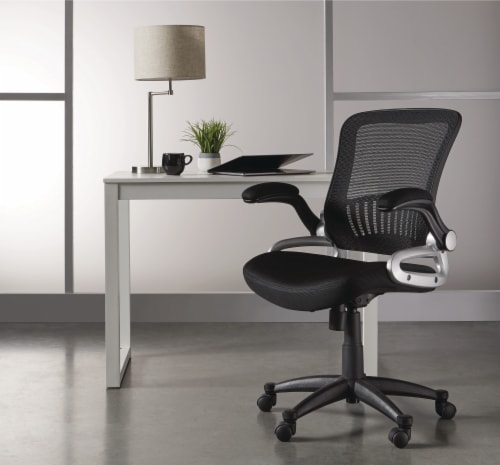 HD Designs Soho Mesh Manager Chair - Black/Silver Perspective: bottom