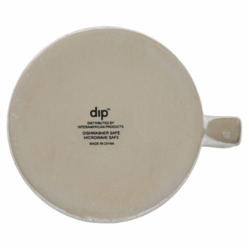 Dip Ceramic Dotted Mug - White Perspective: bottom