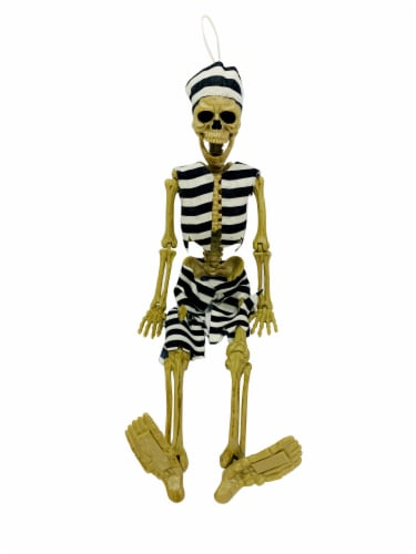 Holiday Home Hanging Convict Dressed Skeleton Decoration Perspective: bottom