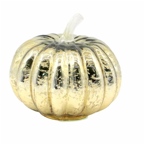 Holiday Home LED Glass Pumpkin - Gold Perspective: bottom