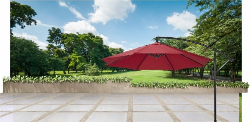 HD Designs Outdoors® Offset Umbrella - Rio Red Perspective: bottom