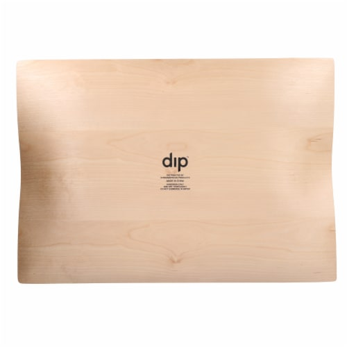 Dip Indented Rectangular Tray - Natural Perspective: bottom