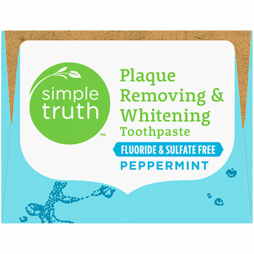 Simple Truth™ Peppermint Plaque Removing & Whitening Toothpaste Perspective: bottom